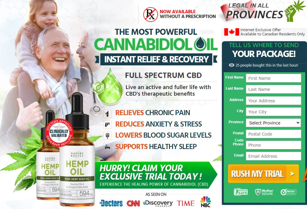 Where to Buy Nature Relief CBD Oil